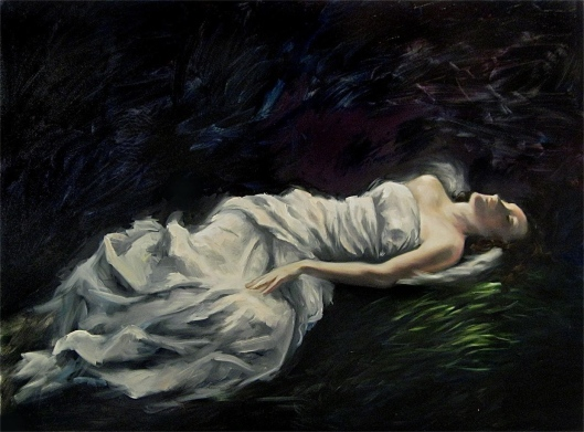 "Rapture, oil on canvas, 30""x40"", Jessica Libor 2011, SOLD"