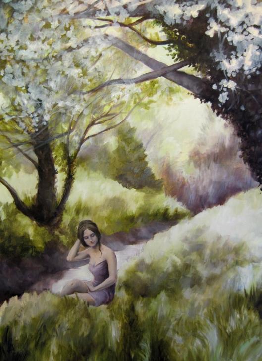 "Spring Idyll, oil on board, 18""x24"", Jessica Libor 2012"