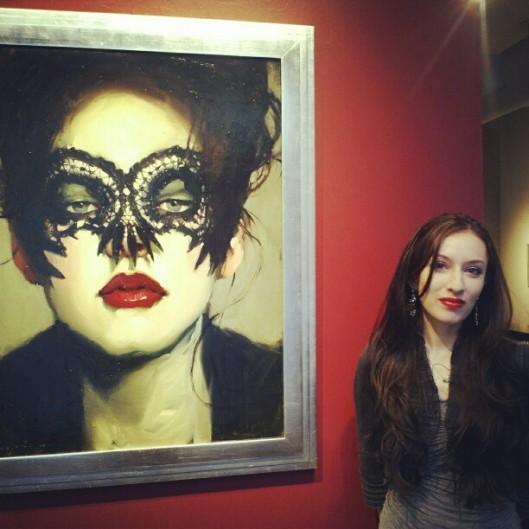 Jessica Libor at Malcom Liepke show