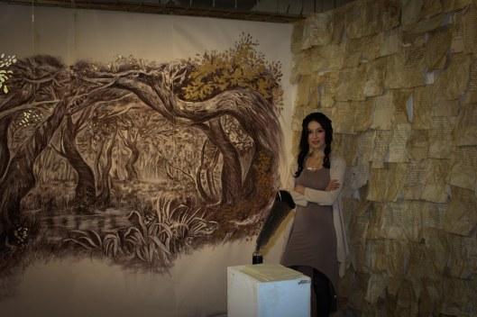 Jessica Libor in her installation Tender Missive