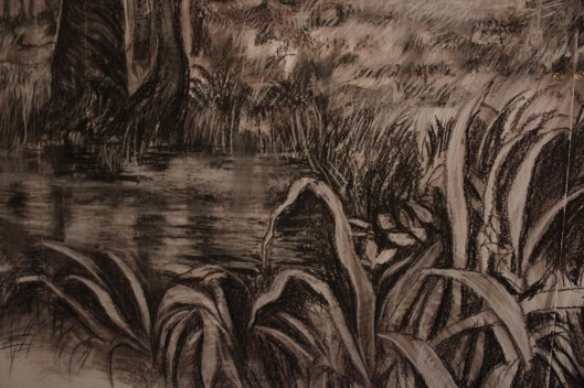 Detail of Tender Missive drawing by Jessica Libor