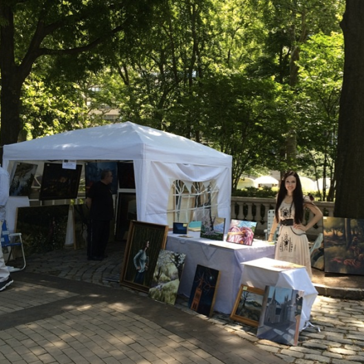 At the Rittenhouse Square Art Fair, 2014