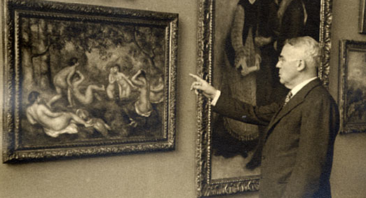 Mr. Barnes with a Renoir