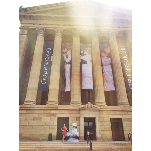 "Jessica Libor at the Philadelphia Museum of Art with ""Philadelphia Dusk"""